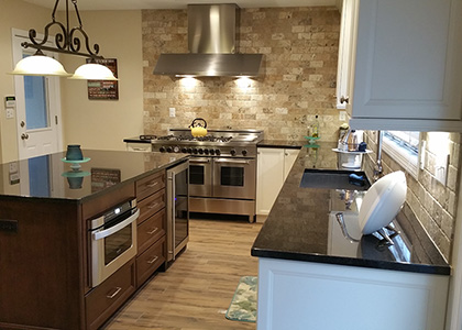 Small White Kitchen Remodel - Harrison, NY