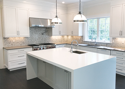 White kitchen renovation - Scarsdale, NY