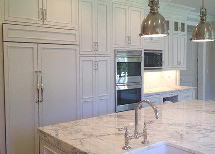 White Kitchen Renovation - Armonk, NY