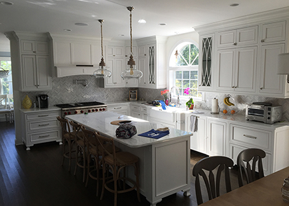 Magnificent White Kitchen Renovation - Eastchester, NY