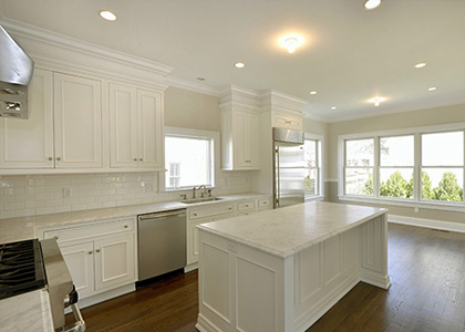 Modern White Kitchen Design and Renovation - Greenwich, CT