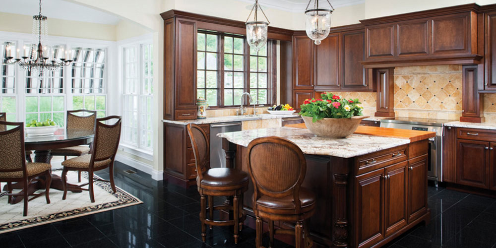 UltraCraft - Traditional Walnut Kitchen - Hartsdale, NY