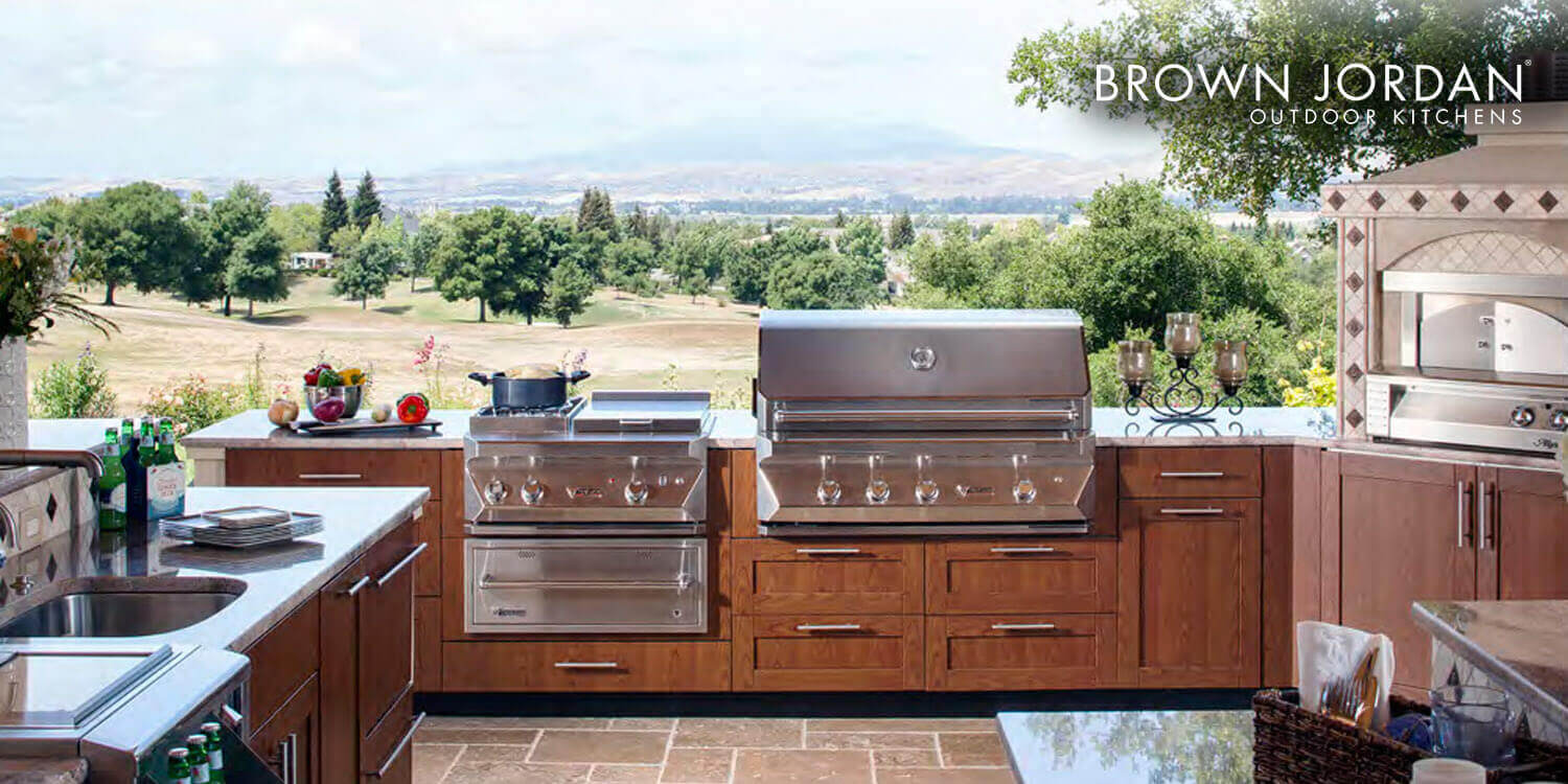 ny outdoor kitchen cabinets by brown jordan pound ridge