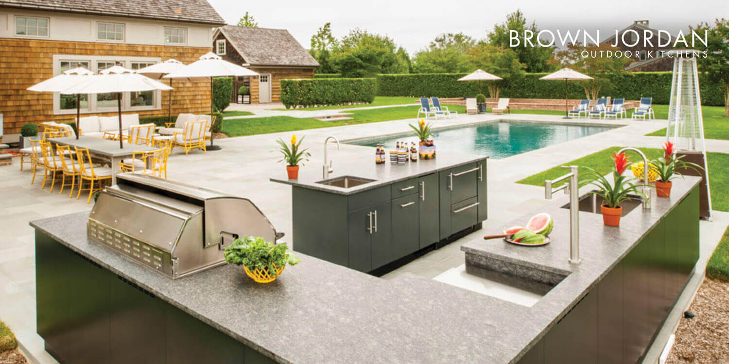 ny outdoor kitchen cabinets by brown jordan westchester ny